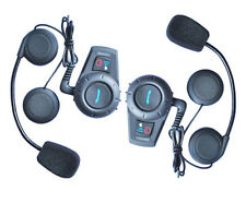 2 x BT interphone Bluetooth Motorbike Motorcycle helmet intercom Headset 500M