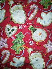 LINED VALANCE 42X12 CHRISTMAS BAKING COOKIES SANTA FROSTY DOVE CANDY CANE