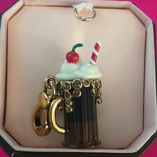 NWT AUTHENTIC JUICY COUTURE ROOTBEER FLOAT  CHARM  WITH  BOX RETIRED