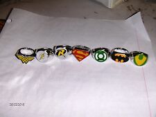 24 Toy DC Comics 1 inch Ring Birthday Party Carnival Favors Super Hero