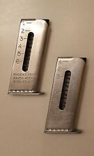 Raven P25 MP25 New .25 ACP 6 Round Magazine Nickel Stainless QTY of 2