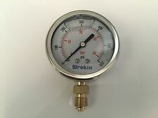 Hydraulic Pressure Gauge 63mm Bottom Entry 0-600 PSI 40 Bar Stainless GB6340/04