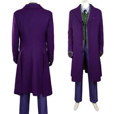 Original Batman 3 the Dark Knight Rises the Joker Cosplay Costume Suit Customize