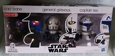 STAR WARS MINI MUGGS CAD BANE,GENERAL GRIEVOUS & CAPTAIN REX SET TARGET