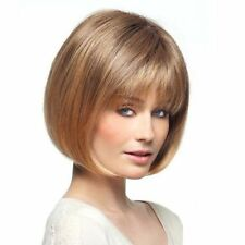 Bob Haircut Short Natural Straight Charming Full Bang Women's Capless Wig Hair