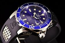 Invicta 11752 Grand Diver Automatic NH35 Sunray Blue Dial Polyurethane Watch NEW
