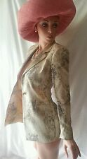 Luxus COUTURE Escada Blazer tiger animal leo 42/44/46 NP1180,-CAT gold STATEMENT