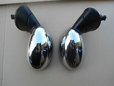 BMW MINI ONE COOPER S PAIR DOOR WING MIRRORS CHROME COVERS R50 R52 R53 2001-2006