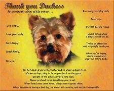 Yorkie Dog Print/Picture/Wall Art-Personalized w/Name-Unique Pet Lover Gift Idea