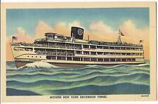 STATE of PENNSYLVANIA New York EXCURSION VESSEL WILSON LINE Postcard NY Linen