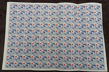 AUSTRALIA 1954 ANNIV OF RED CROSS FULL SHEET OF 120 MNH STAMPS UNMOUNTED MINT L1