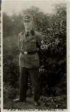 1930's  WWII German Soldier in Uniform - REAL PHOTO Military, Westerburg