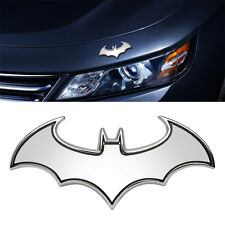 Silver Metal Cool 3D Bat Badge Emblem Decal Sticker Auto Detailing Car Styling