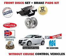 FOR SUZUKI SWIFT 1.6 SPORT 2011-  FRONT BRAKE DISCS SET + DISC PADS KIT - CRUISE