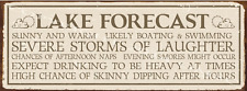 Lake Forecast Metal Sign, Rustic Living, Clever Saying, Country Home