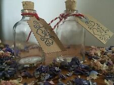 50 x Small empty Glass demijohn bottles  50ml cork stopper wedding favours