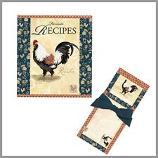 Chateau Rooster recipe Binder, Magnetic Notepad and Recipe Cards Gift Set