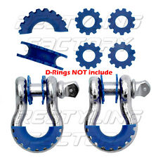 "New BLUE Isolator Washers 1 Pair Set Silencer Clevis for 3/4"" D-ring Shackles"