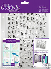 Docrafts Papermania ALPHAS TRAD Alphabet & number A5 stamp 129pc +storage pocket