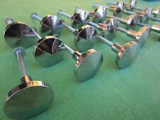 18 boutons ronds métal brillant tiroirs meuble cuisine occasion diamètre 2,5 cm