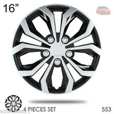 "New 16"" Hubcaps Spyder Performance Black and Silver Wheel Covers For Honda 553"