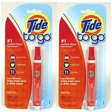 2 Single Pack Tide To Go Stain Remover Pen **Free Shipping**