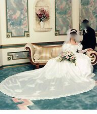Fink White Preserved Wedding Bridal Dress + Headpiece + Veil + Crinoline