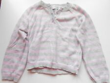 Early Days girls' grey and pink striped jumper, age 12-18 months, worn once