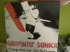 SONIC YOUTH COVER LP RECORD ITALIAN GROUPS GIOVENTU SONICA CLEAN
