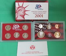 2001 US Mint ANNUAL 10 Coin SILVER Proof Set