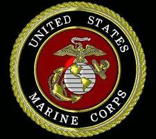 3x5 Black USMC Marine Corps Crest Emblem Nylon Poly Flag 3'x5' Banner