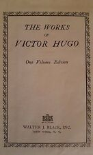 THE WORKS OF VICTOR HUGO-1 VOLUME EDITION 1928