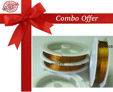 Gear Wire (Gold Color - 2 Rolls) - Combo Offer - Jewellery Making Wire