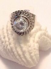 New Ring Elegant 3CT White Topaz Size 7 100% Pure 925 Sterling Silver