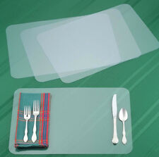 Set of 3 CLEAR PLACEMATS See-Through Plastic Place Mats Table Cloth Protector
