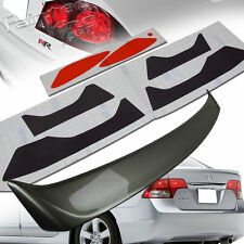 PAINTED FOR HONDA CIVIC 8th 8 P TYPE TRUNK SPOILER+HEADLIGHT+TAILLIGHT STICKERS