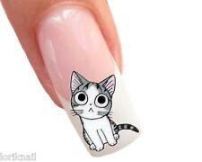 Nail Art Wasser Tattoo Aufkleber für Nageldesign Sticker BLE1373 Katzen Motiv