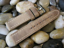 20 mm Hadley Roma MS854 Sand Distressed Leather Watch Band! tan strap Aviator