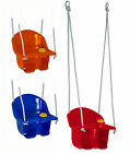 Childrens Plastic Rope Swing Seat With Rope & Mounting Rings Kids Outdoor Garden
