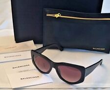 NEW BALENCIAGA BA18  01T 58-17-140 SHINY BLACK/BLACK RED GRADIENT FADE SUNGLASS