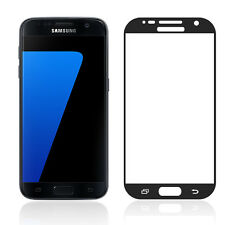 Black Full Cover Tempered Glass Screen Protector For Samsung Galaxy S7