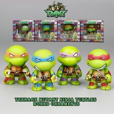 4PCS TMNT NINJA TURTLE ACTION FIGURE KID DISPLAY FIGURINES TOY CAKE TOPPER DECOR