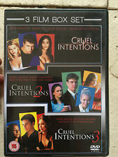 Sarah Michelle Gellar Reese Witherspoon CRUEL INTENTIONS Trilogy 1-2-3 UK DVD
