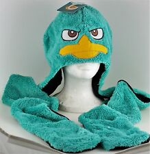 Disney Phineas And Ferb PERRY Scarf Hat Plush Faux Fur Snood NEW