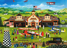 "Wooster Scott ""FRANKLIN FIELD'S AIR SHOW"" Airplanes Planes BOXLESS Puzzle *100%*"