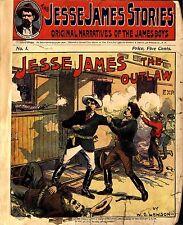 20 Jesse James Stories Dime Novels on DVD