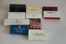 Lot of 10 Matchboxes from Hotels. USED #1