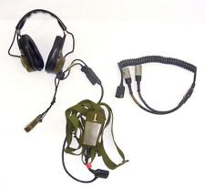 Military Truck Surplus AN/VRC 12 Radio Microphone Headset 5965-01-104-0947  NOS