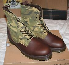 Dr. Martens Wilder 8-Tie mens boots NEW IN BOX doc size 14 Camo Green Brown