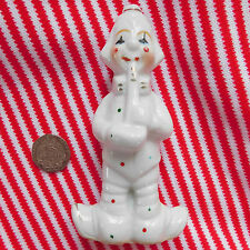 Clown with saxophone Ceramic ornament 11 cm tall Sax player Musician figurine